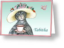 Feline Finery - Tabitha Greeting Card