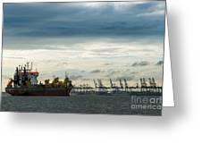 Felixstowe Docks Greeting Card