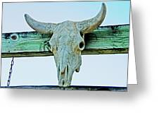 Fence Decor Ranch Style Greeting Card