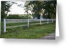 Fence Or Shoes Greeting Card