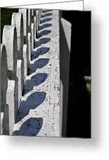 Fence Shadows Greeting Card
