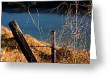 Fenceposts Greeting Card