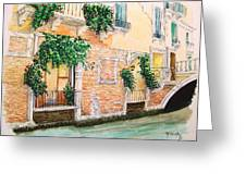 Fenetre Sur Canal Greeting Card