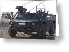 Fennek Armored Reconnaissancd Vehicles Greeting Card