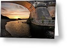 Fernbridge Sunset Greeting Card