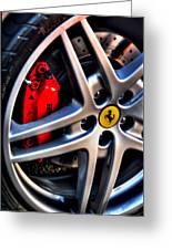 Ferrari Shoes Greeting Card