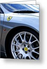 Ferrari Wheel And Emblems Greeting Card