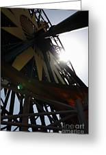Ferris Wheel - 5d17616 Greeting Card by Wingsdomain Art and Photography