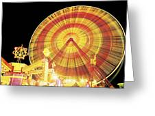 Ferris Wheel And Other Rides, Derry Greeting Card