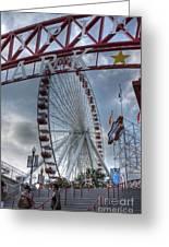 Ferris Wheel At The Pier Greeting Card