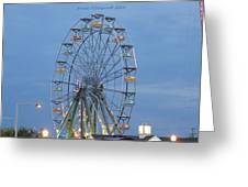 Ferris Wheel At Virginia Beach Greeting Card