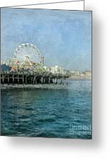 Ferris Wheel On The Santa Monica Pier Greeting Card