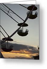 Ferris Wheel Silhouette Greeting Card