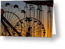 Ferris Wheels Greeting Card