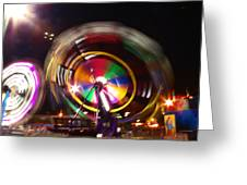 Ferris Wheels Go Round Greeting Card