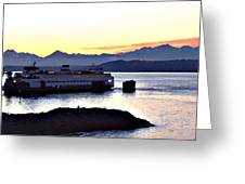Ferry In Edmonds Greeting Card