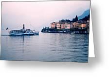 Ferry To Bellagio On Lake Como Greeting Card