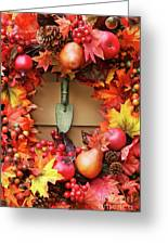 Festive Autumn Wreath Greeting Card