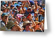 Festive Crowd Greeting Card