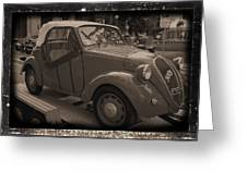 Fiat Dream Car Greeting Card