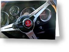 Fiat Steering Wheel Greeting Card