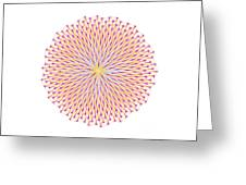 Fibonacci Image With Reticulation In  Blue And Orange Greeting Card