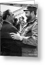 Fidel Castro Greeting Card