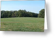 Field At Mount Vernon Greeting Card