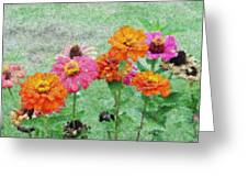 Field Of Flowers Impressionism Greeting Card