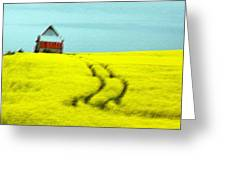 Field Of Yellow Greeting Card