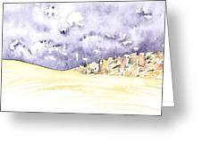 Fields And Town 2 Greeting Card