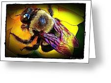 Fierce Bumblebee Greeting Card