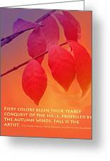 Fiery Colors Greeting Card