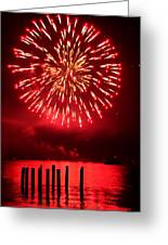 Fiery Fourth Greeting Card by Peter Mooyman