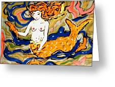 Fiery Mermaid Greeting Card