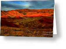 Fiery Painted Hills Greeting Card