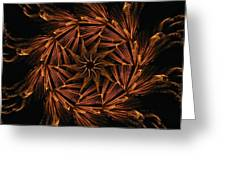 Fiery Pinwheel Greeting Card