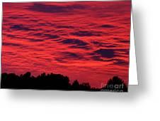Fiery Sky Greeting Card
