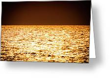 Fiery Sunset Over The Sea Greeting Card