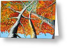 Fiery Trees Greeting Card