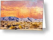 Fiery Western Sky Antarres Road Az Greeting Card