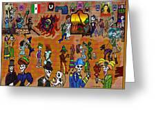 Fiesta Del Dia De Los Muertos Greeting Card