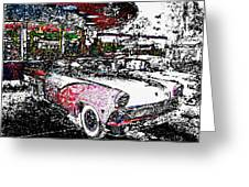 Fifties Drive In Greeting Card