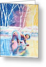Figure Skater 12 Greeting Card