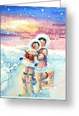 Figure Skater 7 Greeting Card