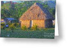 Fijian Bure Greeting Card