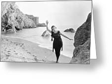 Film Still: Beach Greeting Card