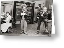 Film Still: Sleuths, 1919 Greeting Card