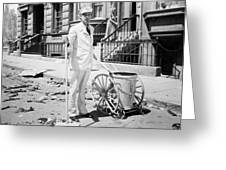 Film Still: Street Cleaner Greeting Card