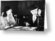 Film Still: Telephones Greeting Card